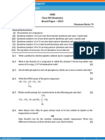 cbse 12th chemistry 2015 paper