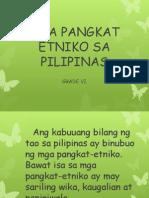 Mga Pangkat Etniko Sa Pilipinas Grade 6