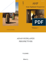 Asian Highlands Perspectives. 2009. Volume 1