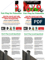 Fair play for Palestine – Cardiff 6th Sept