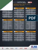 Le calendrier de Pro B 2015-2016