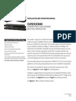 ComNet CLFE1COAX Instruction Manual