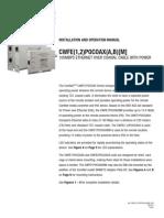 ComNet CWEFQ E1POCOAX(A) Instruction Manual