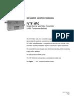 ComNet FVT11MAC Instruction Manual
