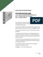 ComNet FVT10D1EM Instruction Manual