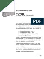 ComNet FVT280S1 Instruction Manual