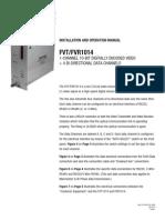 ComNet FVT1014M1 Instruction Manual
