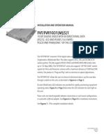 ComNet FVT1031M1 Instruction Manual