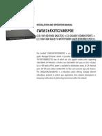 ComNet CWGE26FX2TX24MSPOE Instruction Manual