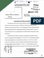 Stern v. Federal Bureau of Prisons - Document No. 3