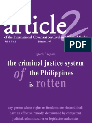 Criminal Justice System in the Phil   Human Rights   Arrest