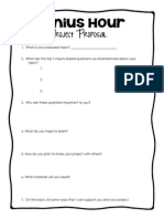 genius hour project proposal