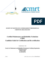 Certified Maintenance and Reliability Technician