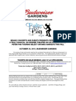 Press Release- Peter Pan On Ice- Oct 28- Budweiser Gardens