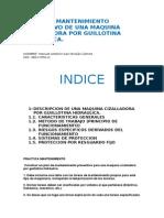 Practica Mantenimiento Preventivo de Una Maquina Cizalladora Por Guillotina Hidraulica