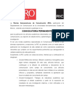 Convocatoria Permanente RIC