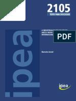 Arend, A Industrialização Do Brasil Ante a Nova Divisão Internacional Do Trabalho Ipea 2015