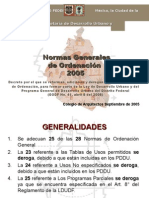 Normas de Ordenación Programa
