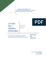 Articulo Lenguaje Para Radio y Televisión.