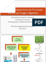5. Aislamiento de Principios Activos de Drogas Vegetales 2013-2014