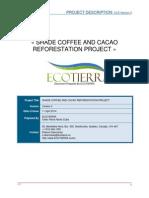 Proyecto de carbono cafe y cacao bajo sombra