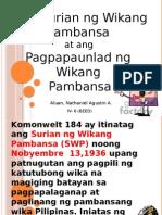 Ang Suriansa at Ang Pagpapaunlad Ng Wikang Pambansa