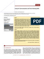 Online Cooperative Learning for Communication and Team Working Skills Enhancement
