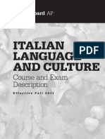 ap italian course and exam description