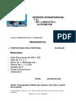 HERRERIA REMANGANAGUA