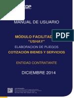Manual USHAY - Pliegos - Cotización ByS - Entidades contratantes.pdf