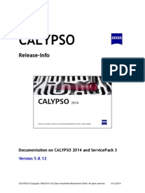 ZEISS_CALYPSO_Release_Information_en pdf | Windows 7 | Microsoft Windows