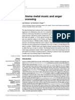 Extreme Metal Music and Anger Processing