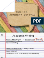 Proposed Curriculum for Technical Writing Course