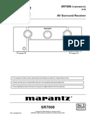MARANTZ SR7008 pdf | Electrical Connector | Hdmi