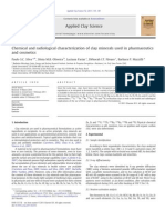Chemical and Radiological Characterization of Clay Minerals Used in Pharmaceutics