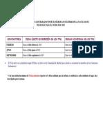 Calendario de Defensas de Tfm Para El Curso 2014-2015