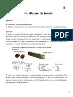 Fis Exp III Exp 5 Divisor de Tensao