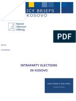 Intraparty Elections in Kosova