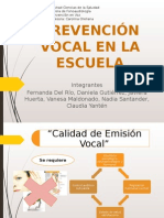 Prevención Vocal