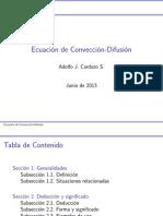 Ecuación de Convección Difusión