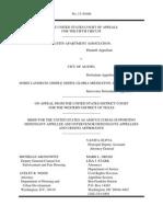 HUD/DOJ brief against Austin Apartment Association Brief