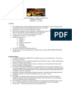 Dancehall Rules and Regulations