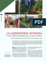 La Relevancia Cultural Del Jardín Efímero