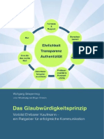 Das Glaubwuerdigkeitsprinzip - Vorbild Ehrbarer Kaufmann - ein Ratgeber für erfolgreiche Kommunikation (Auszug)