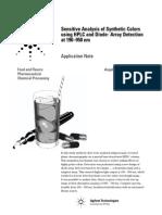 analisis colorantes HPLC