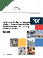 Problemas y desafíos del seguro de salud y su financiamiento en Chile