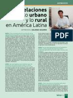 Relaciones entre lo urbano y lo rural en América Latina - Eduardo Zegarra - Revista Leisa - 0615
