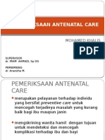 Pemeriksaan Antenatal Care