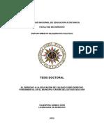 El derecho a la educación de calidad como derecho fundamental en el municipio caroní del estado bolivar