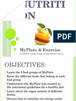 myplate and exercise 7th grade